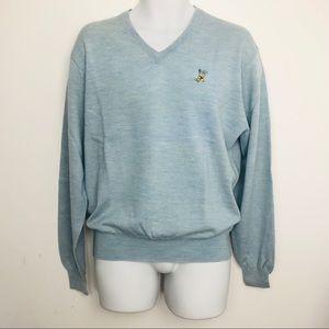Peter Millar men's blue Merino wool sweater size m